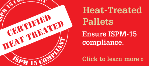 Heat Treated Pallets, ensure ISPM-15 Compliance - click to learn more